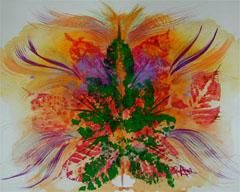 """Painting titled """"FAIRY FIRE"""" by Eloryia Ra, Original Art, Other"""