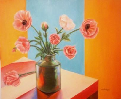 """Painting titled """"Poppies"""" by Elsa, Original Art,"""
