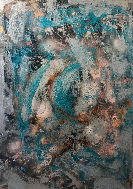 """Painting titled """"Blue wild"""" by Elynguess, Original Art,"""