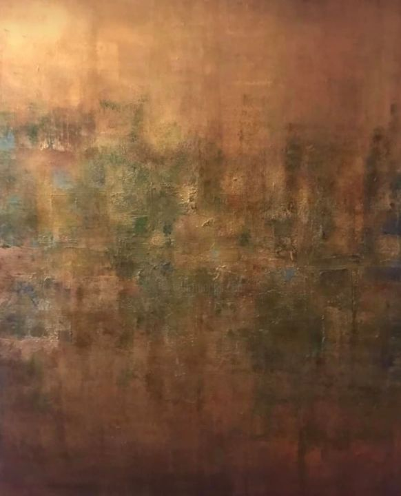 """Painting titled """"Brume"""" by Elynguess, Original Art, Acrylic"""
