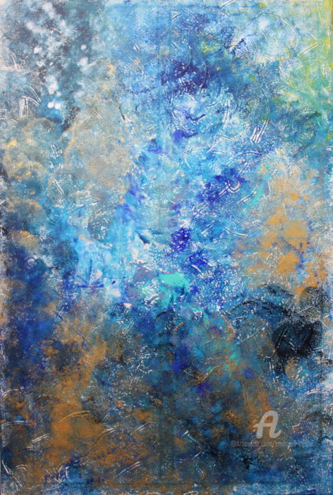 """Painting titled """"Galáxia"""" by Emanuel Aguiar, Original Art, Acrylic"""