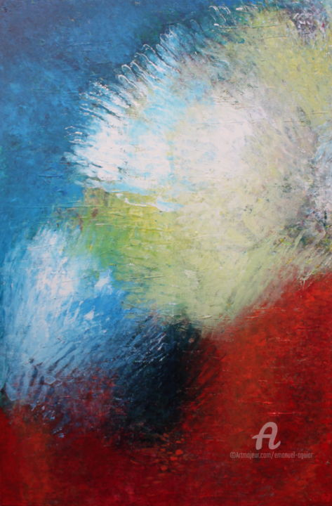 """Painting titled """"Energia"""" by Emanuel Aguiar, Original Art, Acrylic"""
