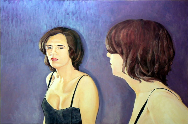 """Painting titled """"The Mirror Has Two…"""" by Emilia Amaro, Original Art, Acrylic"""