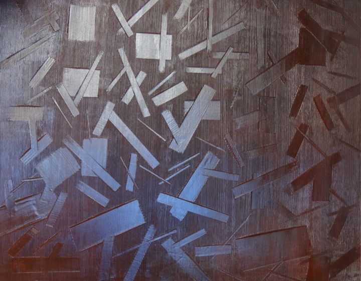 """Emile G """" Effondrement"""" 80x100 - Painting ©2014 by Emile G -                        Abstract Art"""