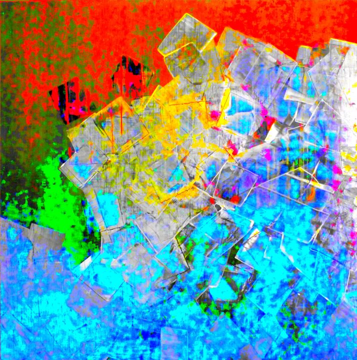 """Emile G  """"Saturation 1"""" - Painting, ©2015 by Emile G -"""