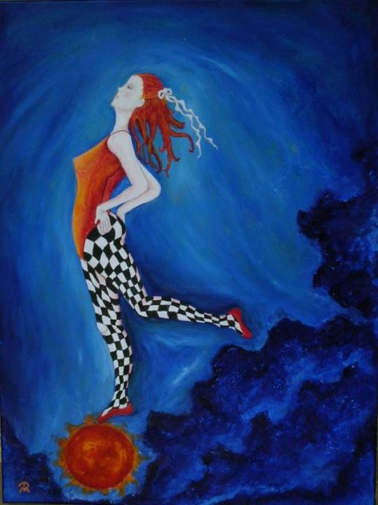 Sunrise Ballet - Painting,  24x18 in, ©2006 by Elisha Miller -