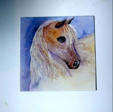 le-cheval-2.jpg - Painting ©2015 by Jocelyne Dumont -                                        Paper, Animals