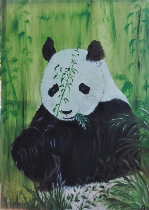 60339007-2233845396693823-953193349110562816-n.jpg - Painting,  80x60 cm ©2019 by ANGE -                                                                Cotton, Canvas, Animals, Nature