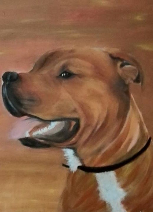 19248106-1031643250305036-1133067152794254526-n.jpg - Painting ©2016 by ANGE -                                                    Canvas, Animals, Dogs
