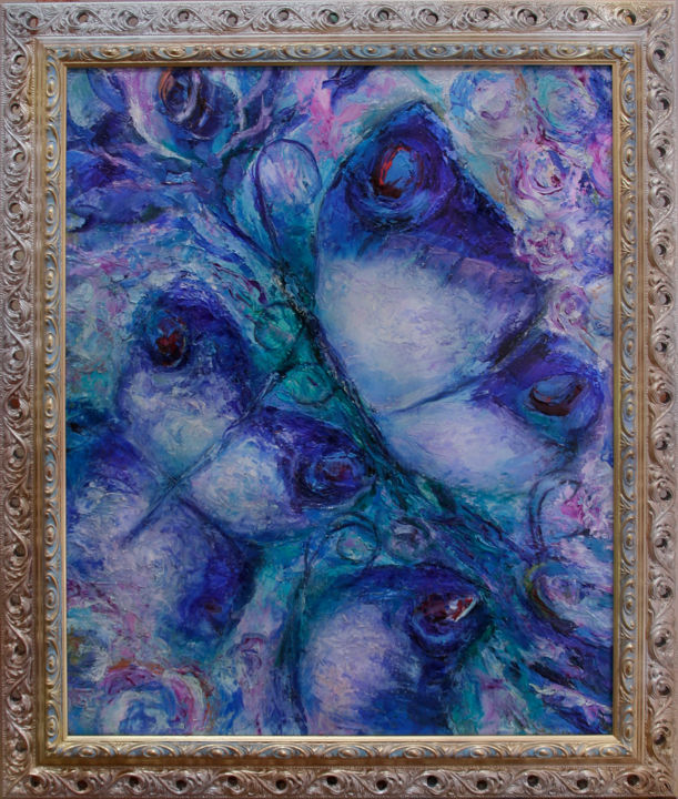 """Painting titled """"FLYING BUTTERFLIES"""" by Ilgonis Rinkis, Original Art, Oil"""