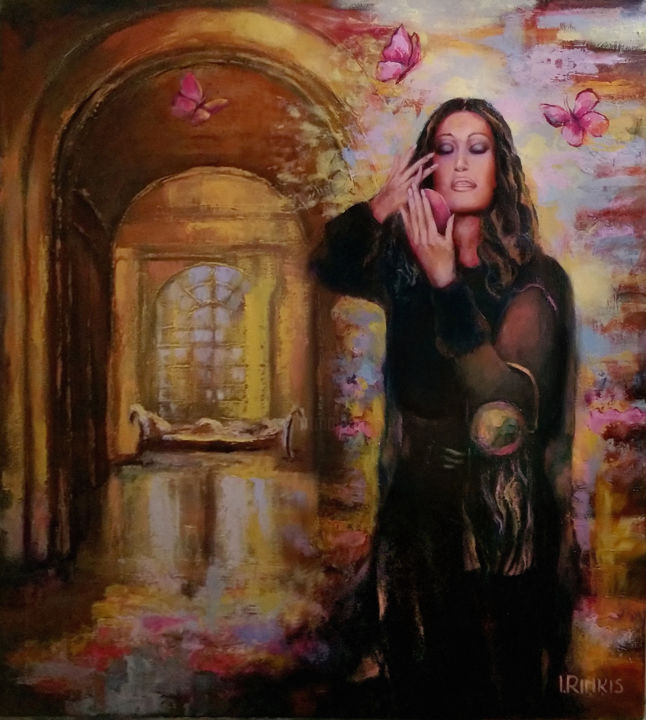 """Painting titled """"MY LOVE — JUST A ON…"""" by Ilgonis Rinkis, Original Art, Oil"""