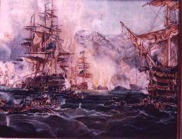 Bombardment - Painting ©1974 by Anthony Payne -