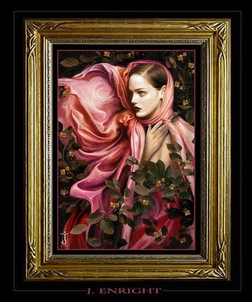 """Painting titled """"""""Gwenevere"""""""" by John Enright, Original Art,"""