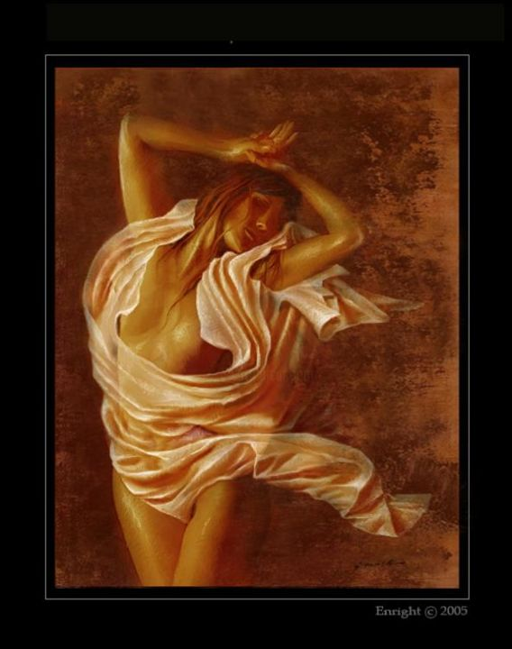 """Painting titled """"""""Lilith of the Wind…"""" by John Enright, Original Art,"""