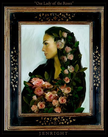 """Painting titled """"""""Lady of the Roses"""""""" by John Enright, Original Art,"""