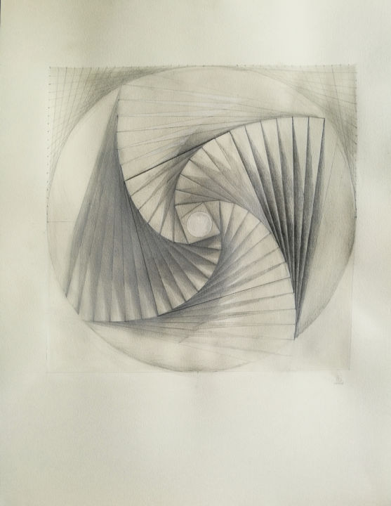 """Drawing titled """"Recurrent thoughts."""" by Enrique Etievan, Original Art, Chalk"""