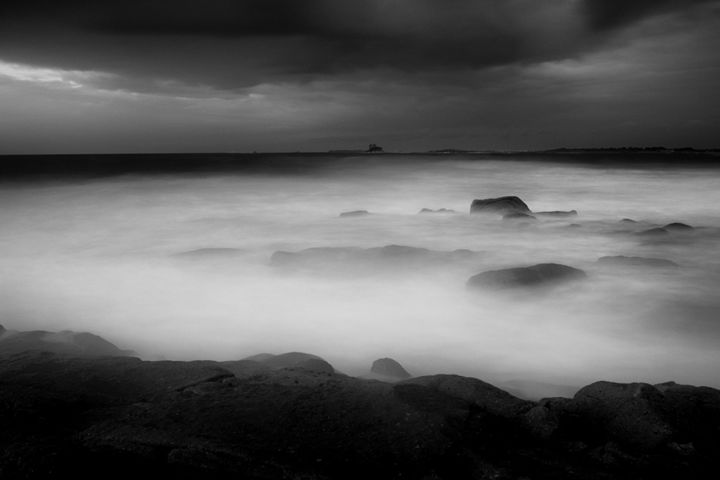 Storm - Photographie,  15,8x23,6x0,4 in, ©2019 par Epha Photos -                                                                                                                                                              Aluminium, Nature, Black and White