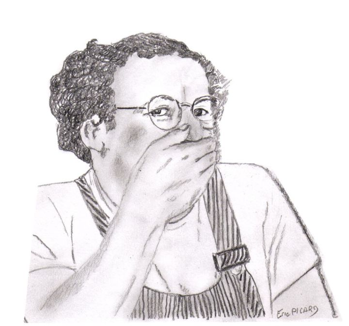 Coluche 111212 2201 Fnd Modele 01 Dessin 01 111212 Jpg Painting By