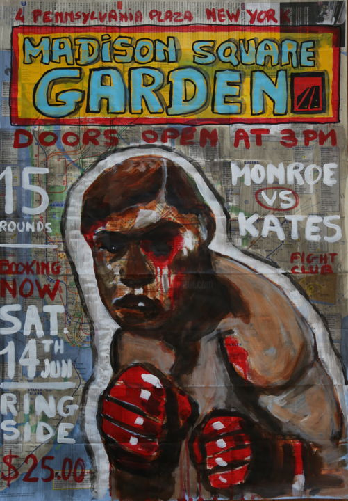 """Painting titled """"Madison square gard…"""" by Eric Stephan, Original Art, Acrylic"""