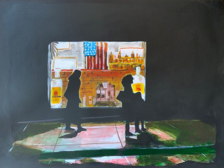 """Painting titled """"Liquid store"""" by Eric Stephan, Original Art, Acrylic"""