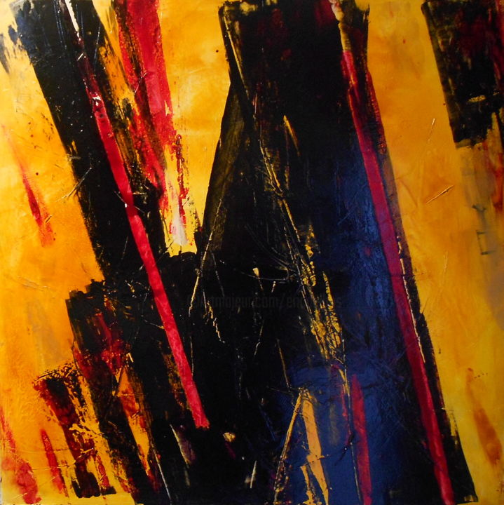abstract-2018-3.jpg - Painting,  31.5x31.5 in, ©2017 by De -                                                                                                                                                                          Abstract, abstract-570, de