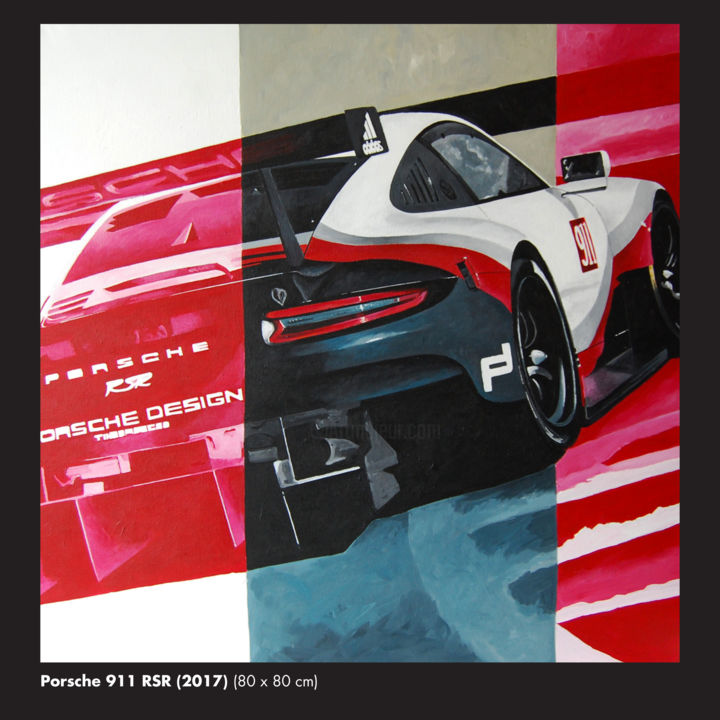 Porsche RSR.jpg - Painting,  31.5x31.5x0.4 in, ©2018 by Eric Hardy -