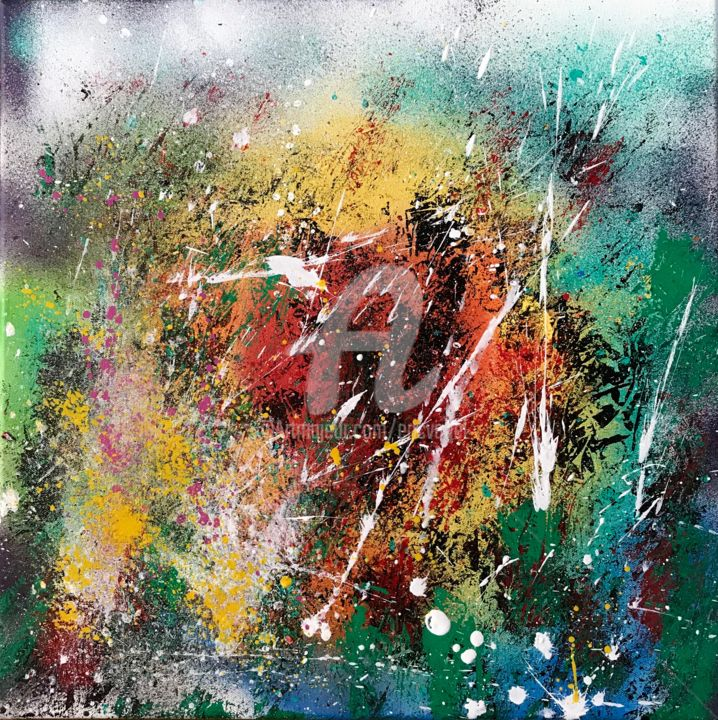img-1930.jpg - Peinture,  23,6x23,6x0,8 in, ©2018 par Eric Vogel -                                                                                                                                                                                                                      Abstract, abstract-570, Art abstrait, Nature