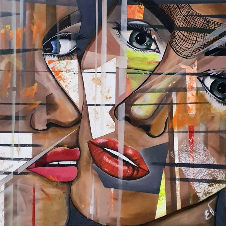 """Painting titled """"""""Soulsisters"""""""" by Erika Vi, Original Art, Acrylic"""