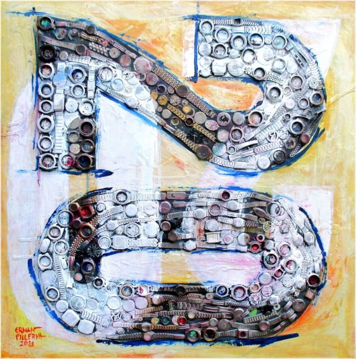 """Painting titled """"""""Turning Time, Movi…"""" by Ernan Pillerva, Original Art, Collages"""