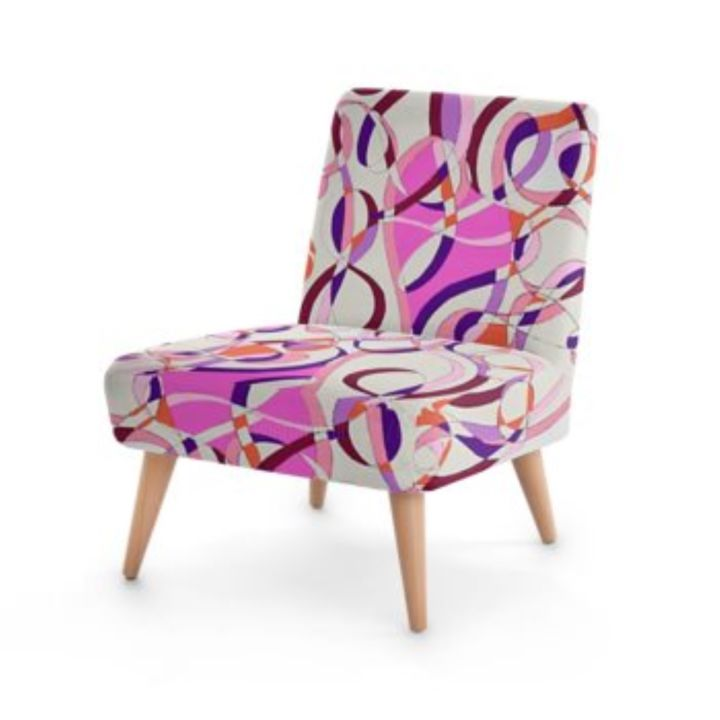 FAUTEUIL MEANDRES - Design,  29.1x24.8 in, ©2019 by J3CM (Carine)  / Cédric Fresquet -                                                                                                                                                                                                                                                                                                                                                                                                          Abstract, abstract-570, Wood, Fabric, FAUTEUIL, DECORATION, SALON, CHAMBRE