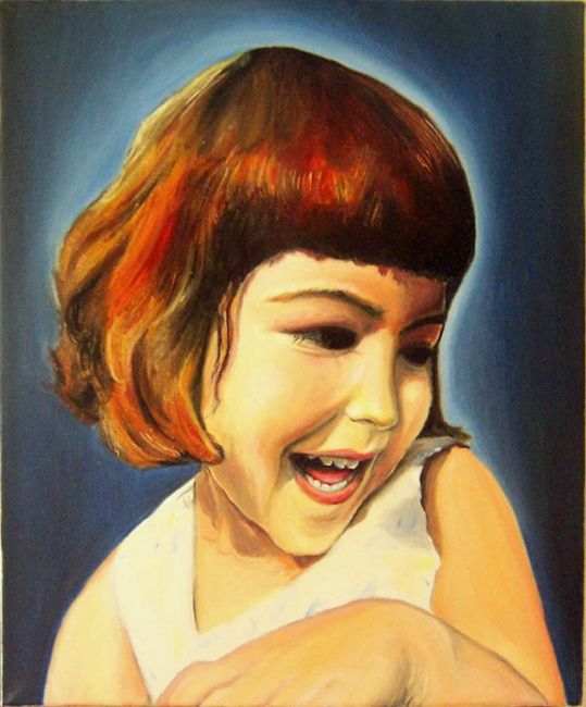 """Painting titled """"The pure happiness"""" by Alexandra Postolache, Original Art,"""