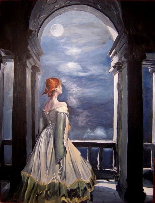 """Painting titled """"Dreaming of you"""" by Alexandra Postolache, Original Art,"""