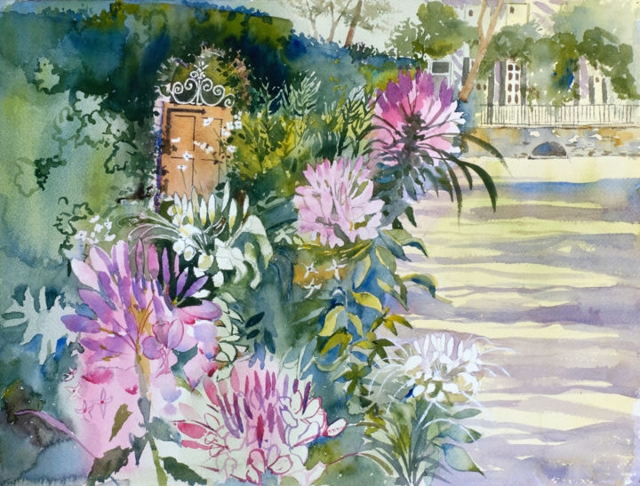 """Painting titled """"Afternoon Shadows a…"""" by Emily Stedman, Original Art, Watercolor"""