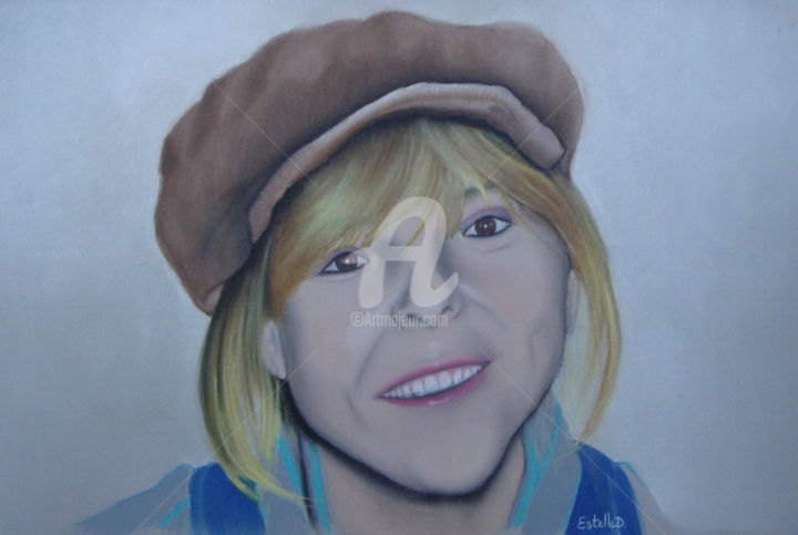 France - Drawing,  40x50 cm ©2018 by Estelle D -                                                                                                        Figurative Art, Culture, Celebrity, Women, Music, People, Portraits, Art, Dessin, Pastel sec, Chanteuse, France Gall, Bretagne, Morbihan, France, EstelleD