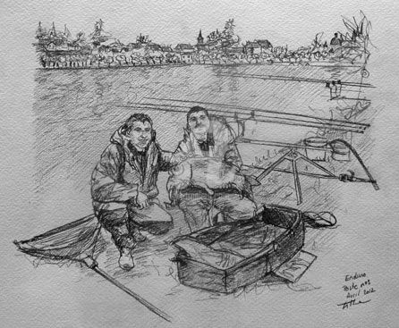 Enduro Poste 3 - Drawing,  30x20 cm ©2012 by Esther -