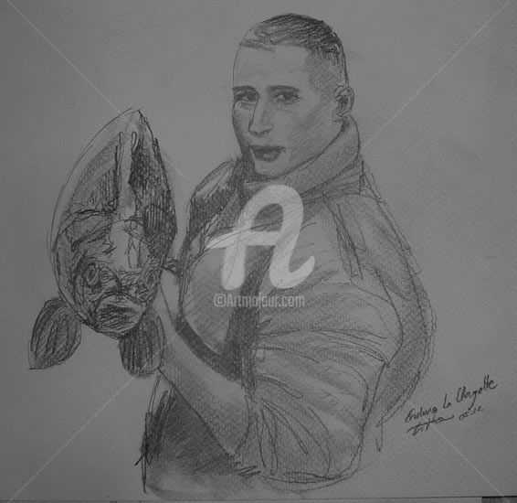 Enduro Damien - Drawing,  20x30 cm ©2012 by Esther -