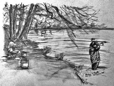 Enduro 6 - Drawing,  20x30 cm ©2012 by Esther -