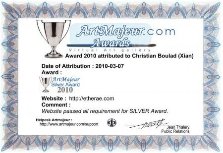 Etherae Site- Silver Award 2010 by Art Majeur