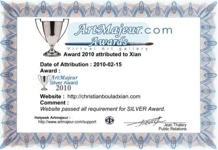 Xian Site- Silver Award 2010 by Art Majeur