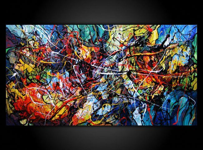 Fire And Ice Painting By Eugenia Mangra Artmajeur
