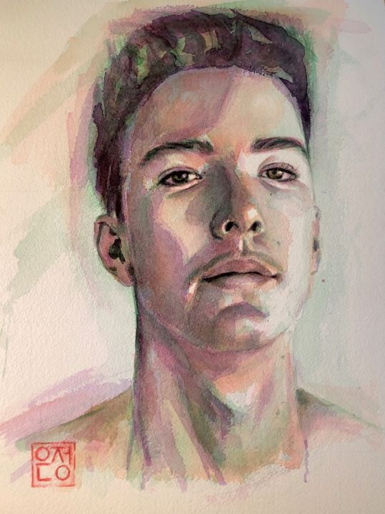 """Painting titled """"life of a boy"""" by Natalie Part, Original Art, Watercolor"""
