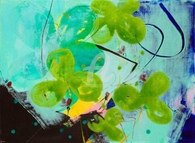 """Painting titled """"Variation sur le Te…"""" by Kim Hee Yeon, Original Art,"""