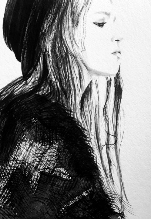 Sadness drawing by evgeniya abramova artmajeur