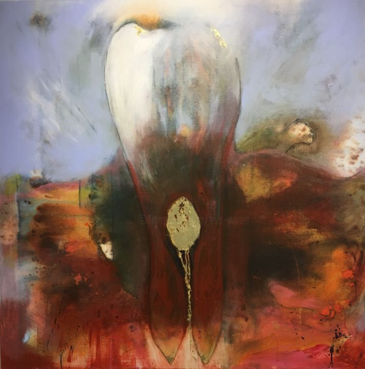 """Painting titled """"The Eagle"""" by Eva Wiren, Original Art, Acrylic"""