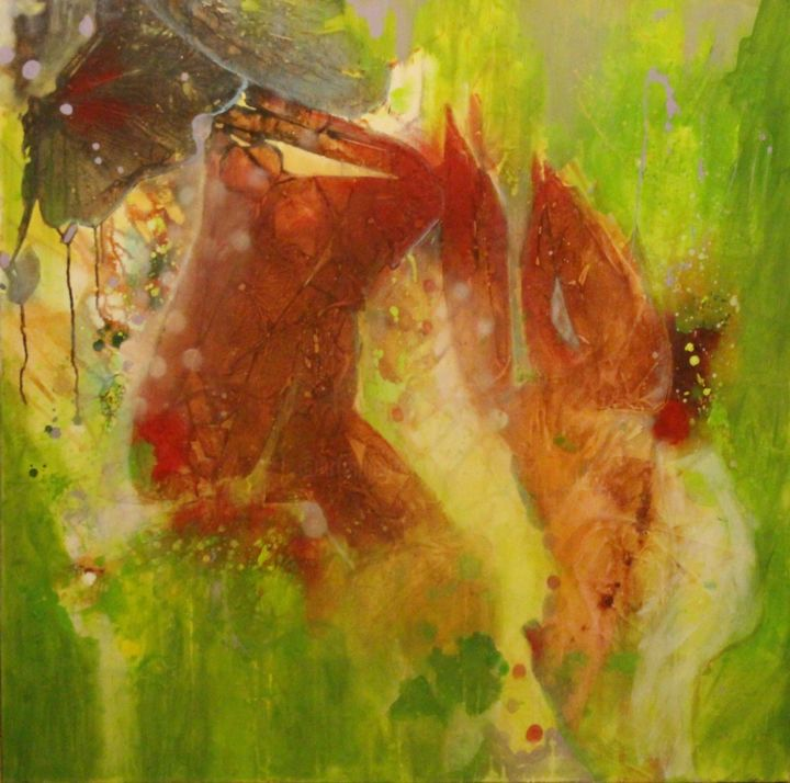 """Painting titled """"Spring in paradise"""" by Eva Wiren, Original Art, Acrylic"""