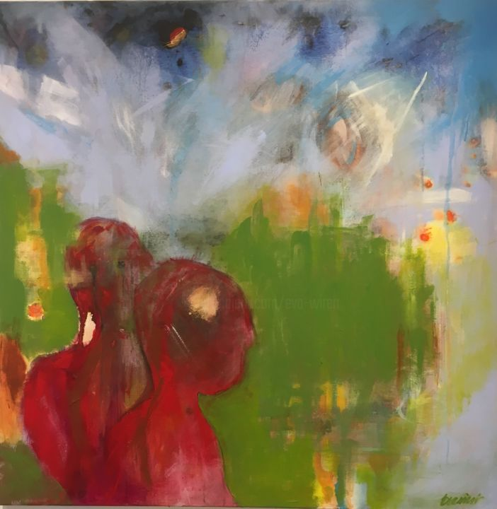 """Painting titled """"Will the autumn com…"""" by Eva Wiren, Original Art, Acrylic"""