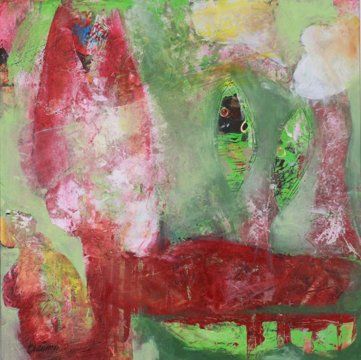 """Painting titled """"The dancing fox"""" by Eva Wiren, Original Art, Acrylic"""