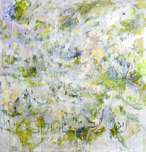 2 novembre 2010 - Painting,  70.9x70.9x0.4 in, ©2010 by Eve Clair -                                                                                                                                                                                                                                                                                                              Abstract, abstract-570, abstraction lyrique, peinture abstraite, art contemporain, lyrical abstraction