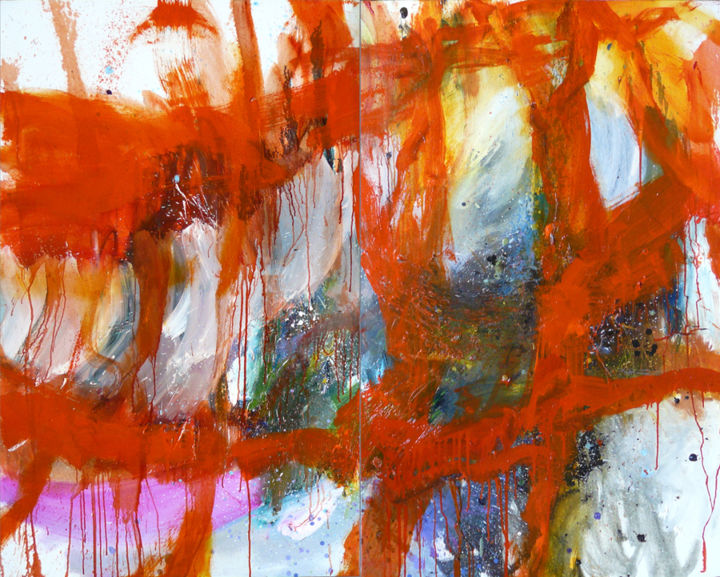 14 août 2015 - Painting,  51.2x63.8 in, ©2015 by Eve Clair -                                                                                                                                                                                                                                                                      Abstract, abstract-570, Abstract Art, art contemporain, abstract painting