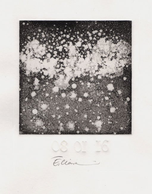 Printmaking, etching, abstract, artwork by Eve Clair